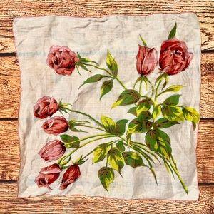 Vintage Floral Scarf Hair Tie